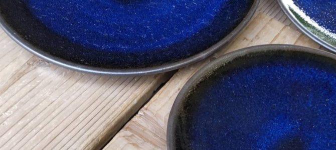 藍色【宇宙(そら)シリーズ】のお皿