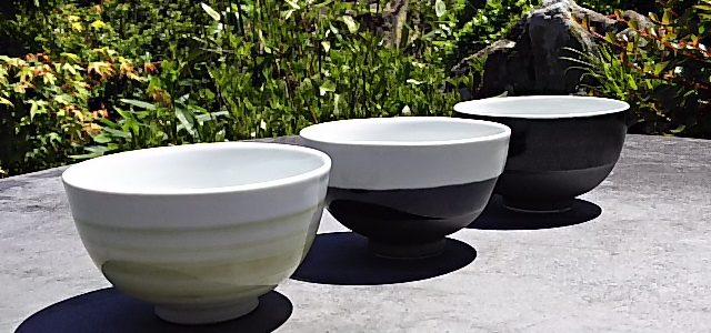 森窯磁器茶碗